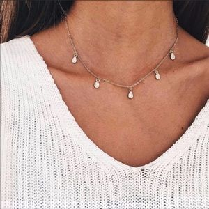 Jewelry - Gold Crystal Drop Necklace